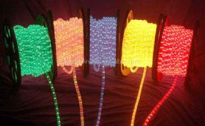 Red, Green, Blue, Clear, Yellow 90mtr Static Duralight Rope Light
